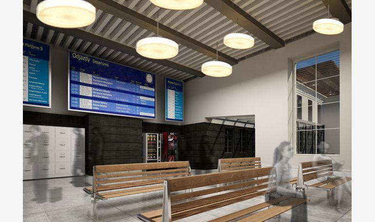 Railway station in Gliwice – visualization