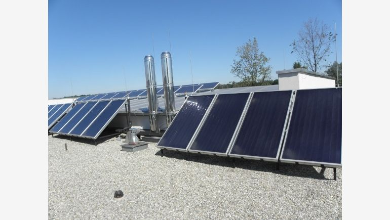 Photovoltaic panels can be a perfect way to develop roofs of office buildings