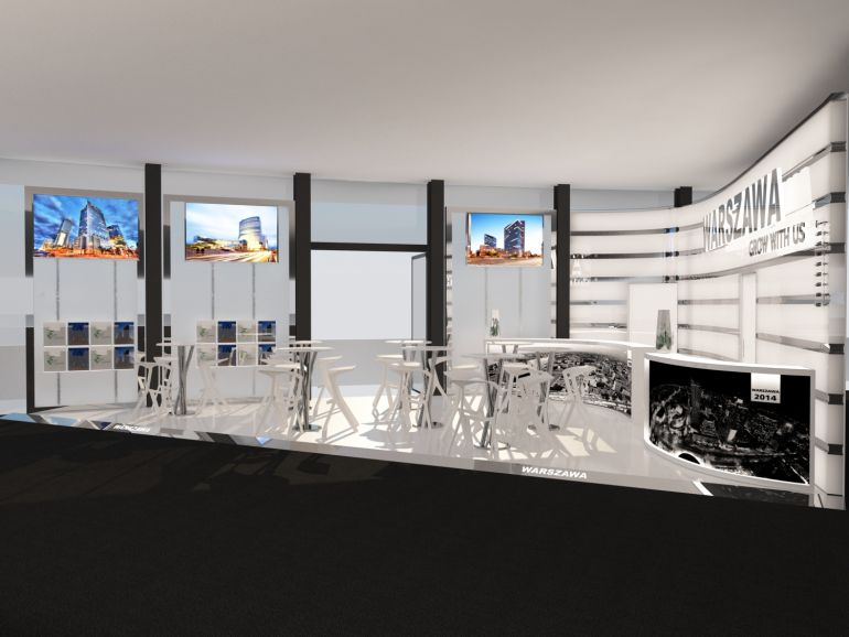 Visualization of Warsaw's stall at MIPIM fair