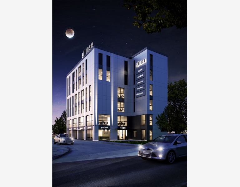 Eclipse is a new office investment in Wrocław (visualization)