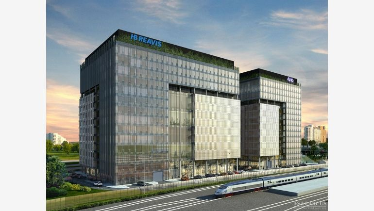 The project of office building complex West Station, which will rise as a cooperation between PKP and HB Reavis