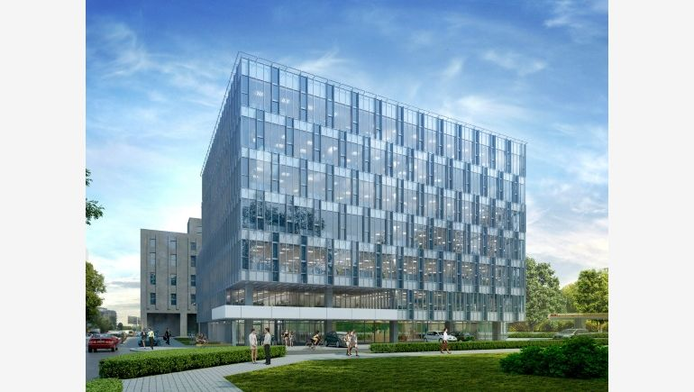 Visualisation of the Sobieski Business Park complex in Warsaw