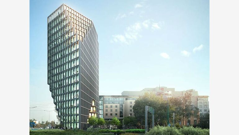 The final draft of the Baltic Office block.