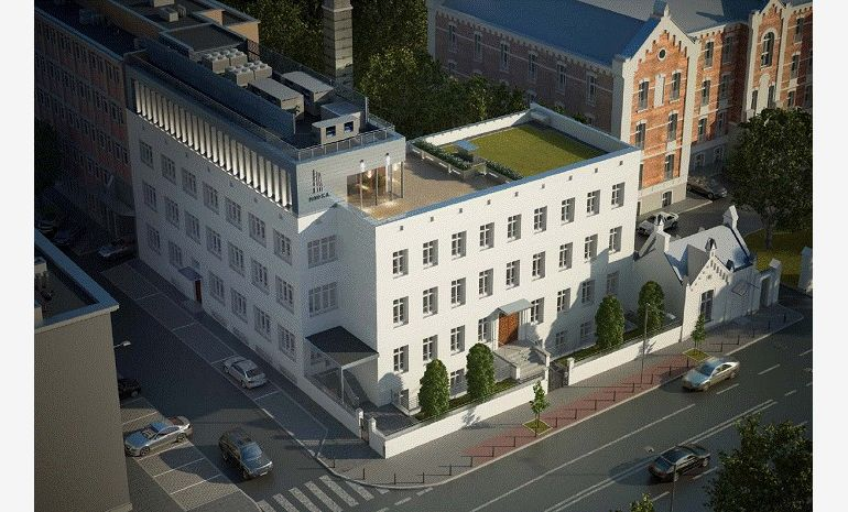 Visualisation of the office building at Rakowiecka, Warsaw, mat. PHN S.A.
