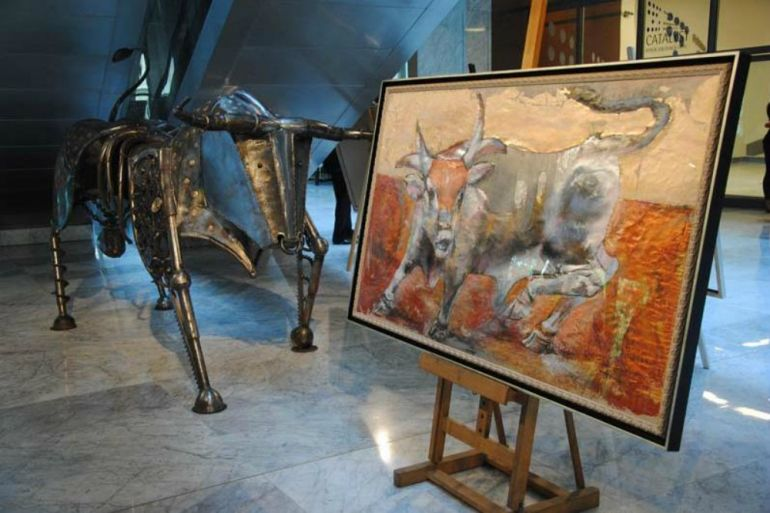 Exhibition of Dawid Patarai works in the headquarters of Warsaw Stock Exchange in Warsaw, pic by gpw.pl