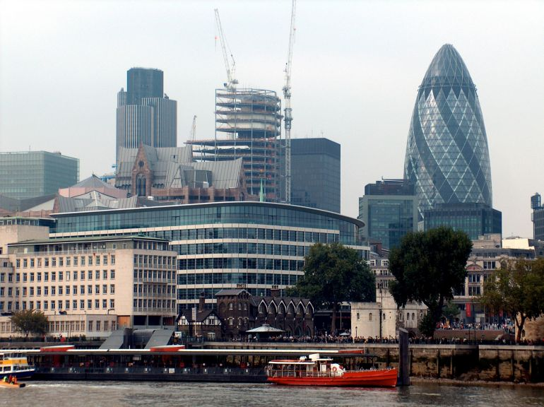 Gherkin office (on the right)