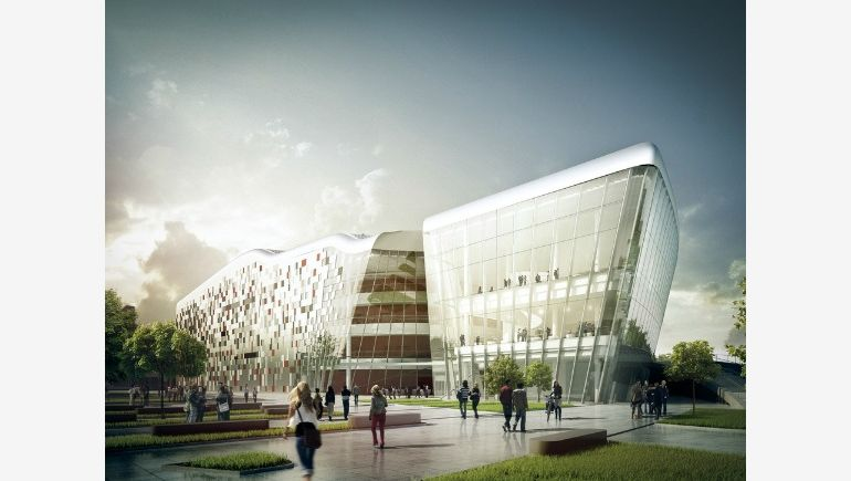 Visualisation of ICE Congress Centre in Kraków