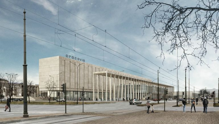 The design of Nowa Cracovia, which was to accommodate shops, restaurants and art galleries