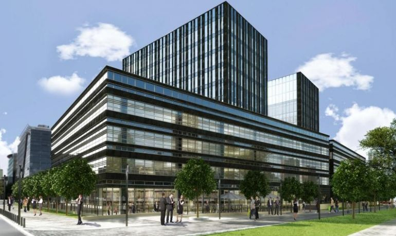 an office building will be constructed near the second line