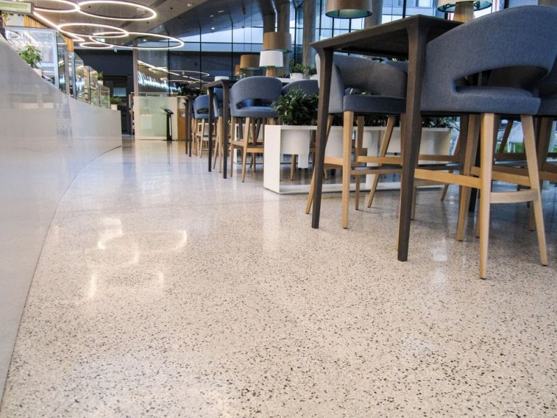 - Terazzo Resinous Flooring (Mondéco Classic): Kaufland canteen in Wrocław