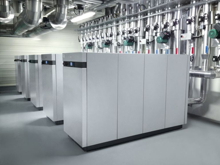 Ground heat pumps have a heating power from 1,7 to 2000 kW, pic by Viessmann