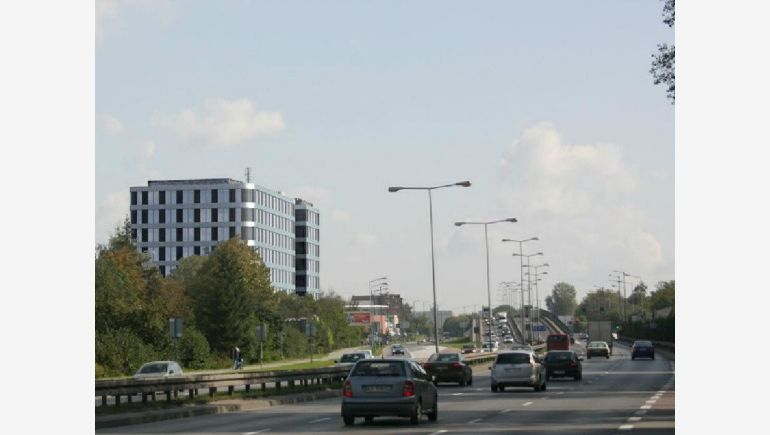 New office building visualization at Lublańska and Bor Komorowski Streets