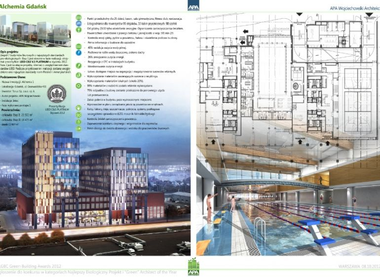 Best ecological building with a pre-certificate - ALCHEMIA in Gdańsk