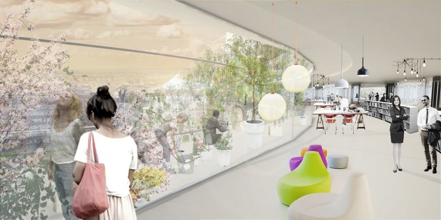 - Interiors, visualization by Urban Design and SelgasCano