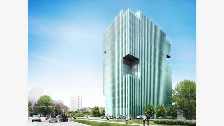Visualisation of office building Alma Tower in Kraków