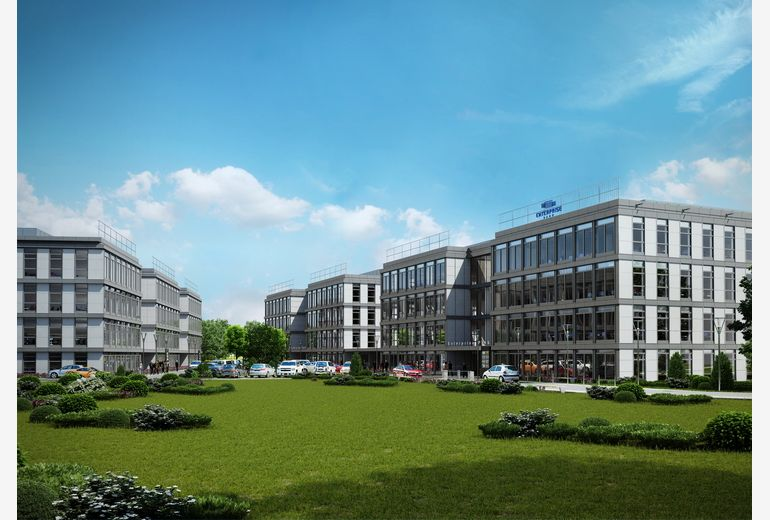 Photo shows the new Cracow investment- Enterprise Park