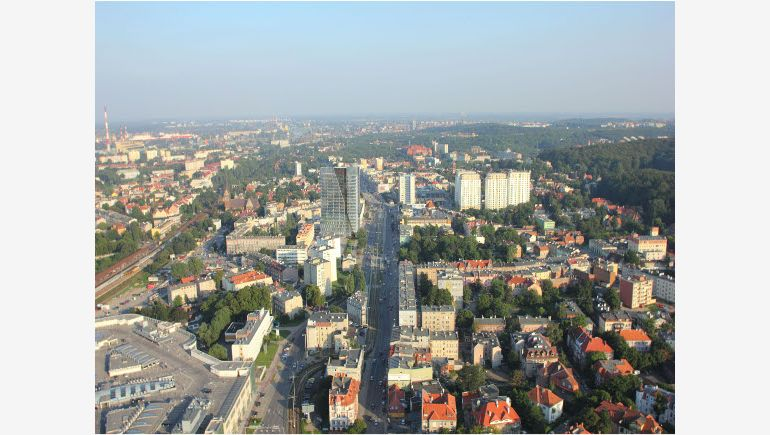 A bird's eye view on Neptun Office Centre in Gdańsk