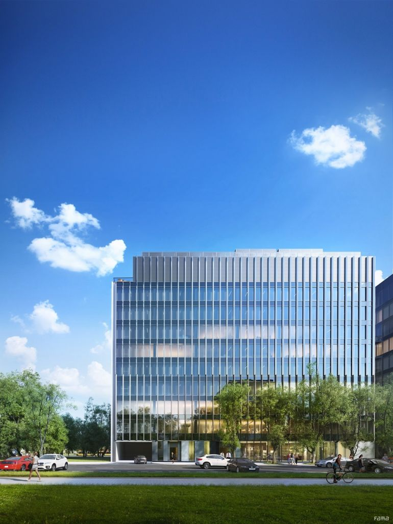 Office complex on the so called Serek Wolski - visualization