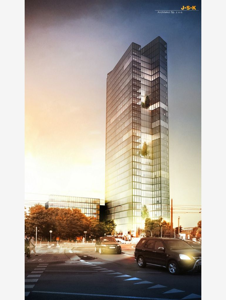 Office building which will be built at Okapowa Street in Warszawa