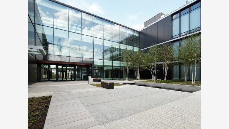 In the photo: Wilanów Office Park, front of the building A
