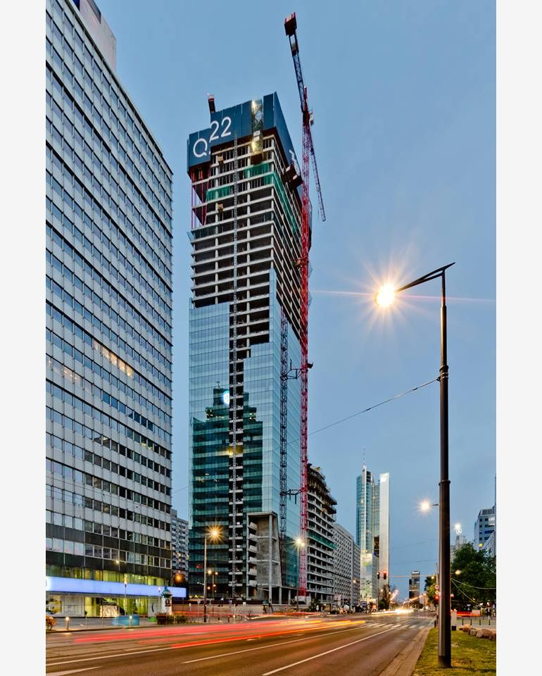 The building of the 40th floor of Q22, pic Echo Investment