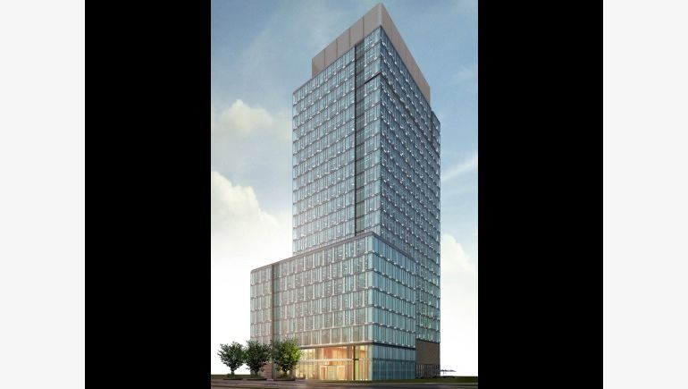 Visualisation of the office blok on 78 Grzybowska Street which wil be built by Golub GetHouse