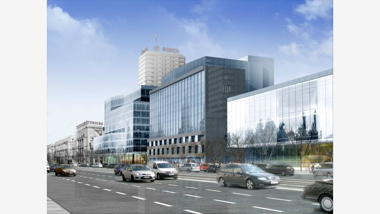 A computer rendering of Nowy Sezam office building in Warsaw