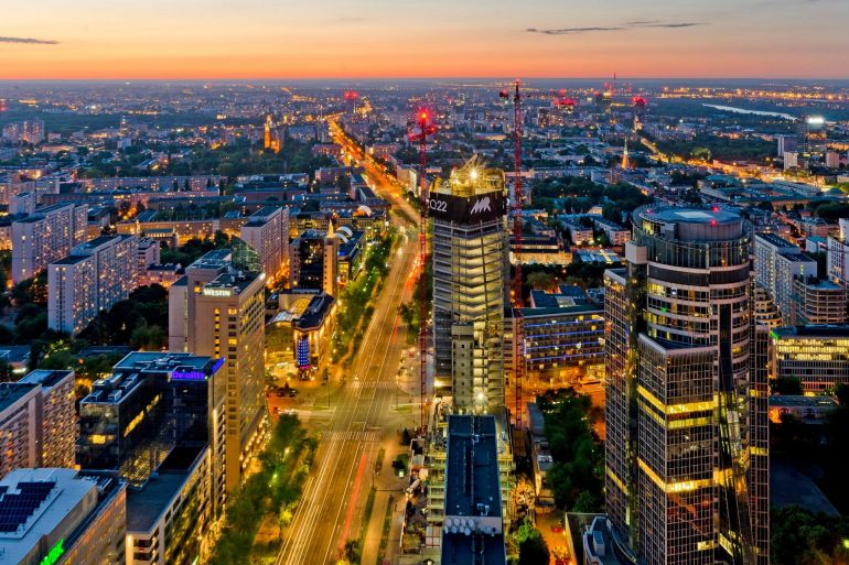 Panorama of Warsaw, pic Echo Investment
