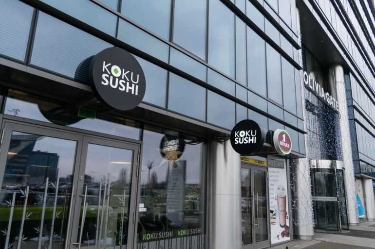 Interior of Koku Sushi in Olivia Business Centre