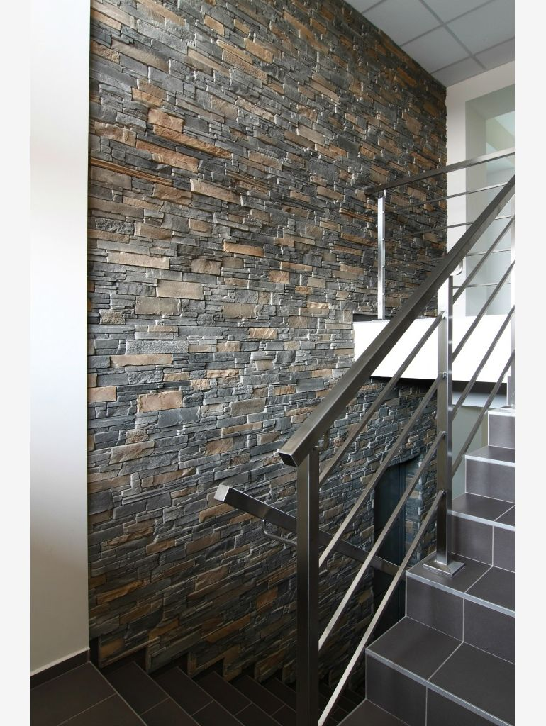 An example of stone cladding in an office, photo: STEGU