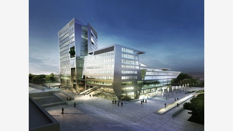 Olsztyn is one of eight cities, in which the development of new office markets was noted. The picture shows Centaurus in Olsztyn, designed by Euro Styl.