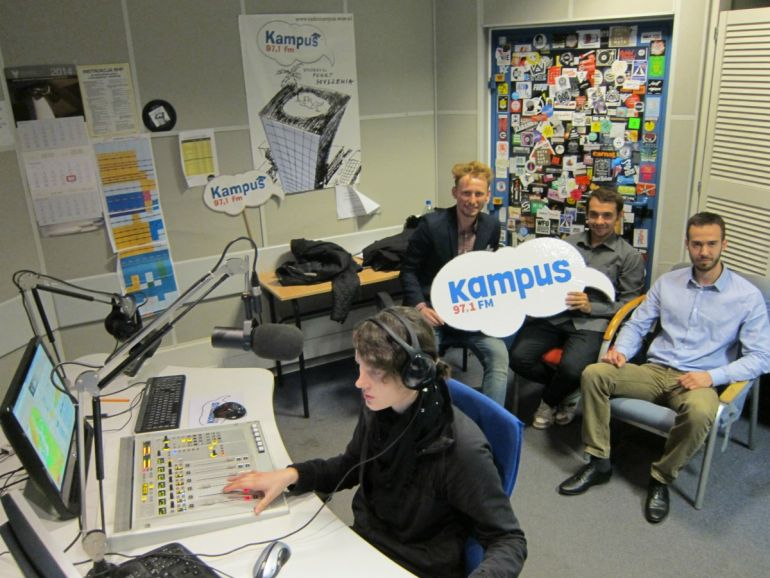 The winning team in Radio Campus. From left to right: Mateusz Rydlewski (captain), Marek and Pawel Zawadzki Janisiewicz