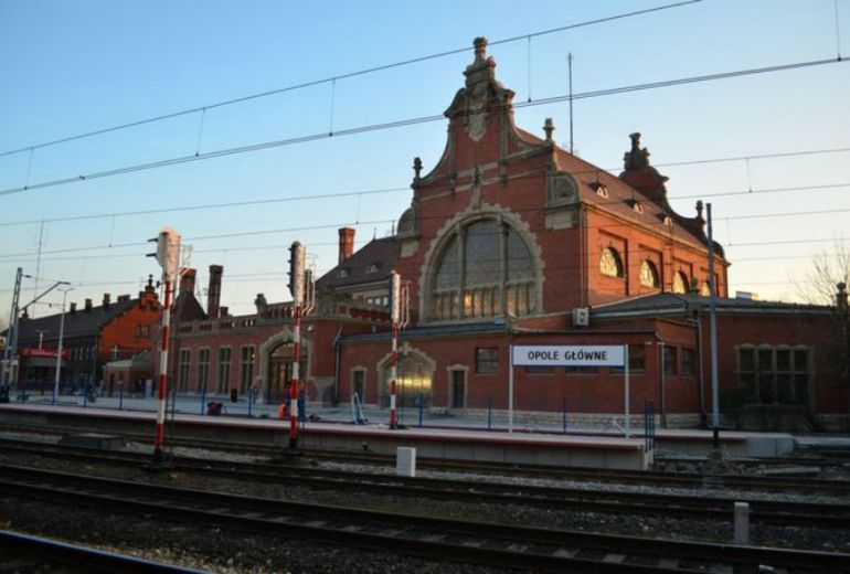 Renovated railway station in Opole