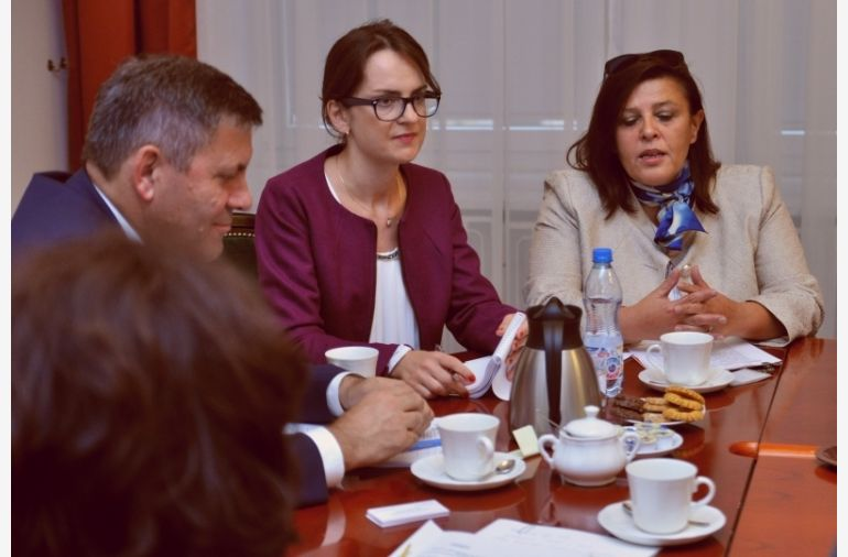 Meeting with foreign information agencies' representatives from Moldova, Georgia, Azerbaijan, Kyrgyzstan, Morocco, RPA and Lesotho, pic http://www.mg.gov.pl/node/21478