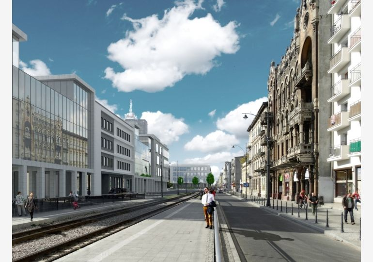 NCŁ - second area of revitalization - visualization Bureau of City Architect