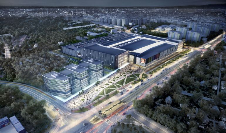 First concept Metropolis shopping centre in Poznań, source Echo.com.pl